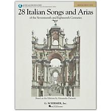 G. Schirmer 28 Italian Songs And Arias for Medium High Book/Online Audio