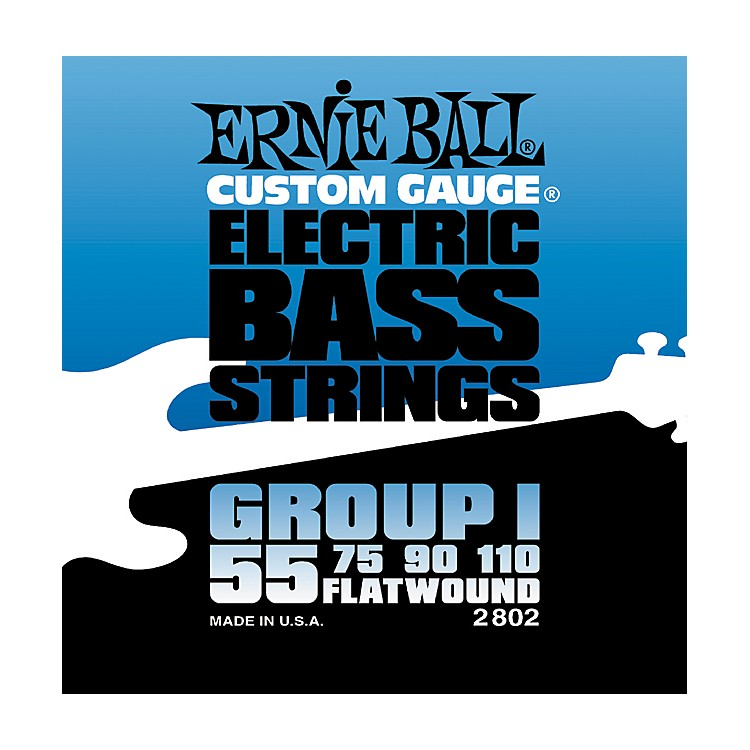 Ernie Ball2802 Flat Wound Group I Electric Bass Strings
