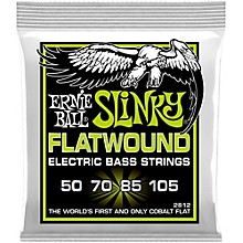 Ernie Ball 2812 Regular Slinky Flatwound Bass Strings