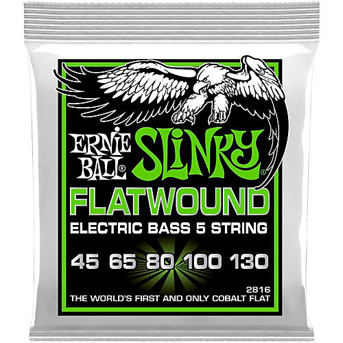 ernie ball 2816 slinky flatwound 5 string bass strings musician 39 s friend. Black Bedroom Furniture Sets. Home Design Ideas