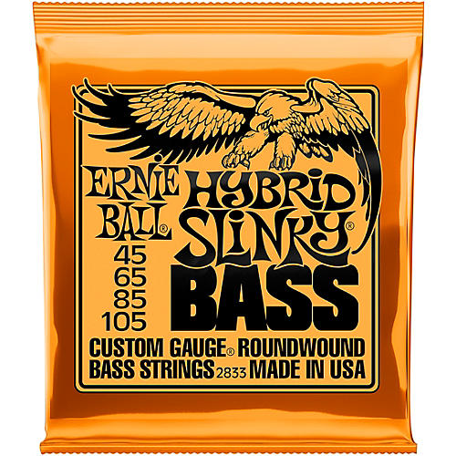 Ernie Ball 2833 Hybrid Slinky Roundwound Bass Guitar Strings-thumbnail