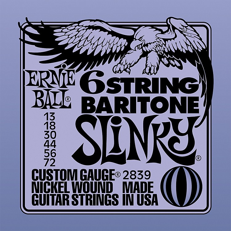 Ernie Ball2839 Baritone Electric Guitar String Set