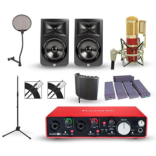 Focusrite 2i2 2nd Gen Interface with MXL Genesis and M-Audio Limited Edition BX8 Pair-thumbnail