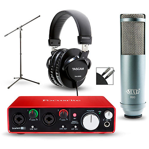 focusrite 2i2 2nd gen interface with mxl r80 and tascam th 200x musician 39 s friend. Black Bedroom Furniture Sets. Home Design Ideas