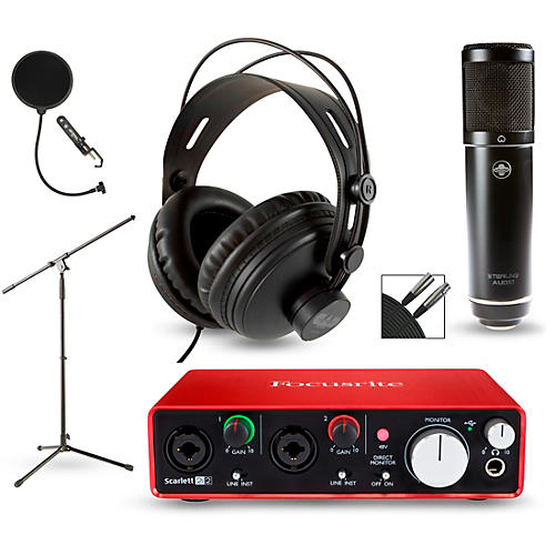 Focusrite 2i2 2nd Gen Interface with Sterling ST51 and CAD MH300-thumbnail