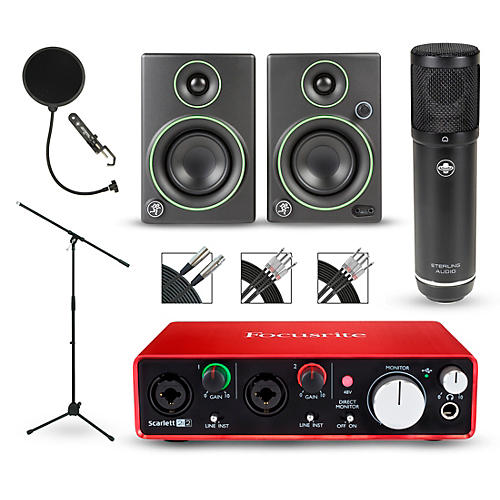 Focusrite 2i2 2nd Gen Interface with Sterling ST51 and Mackie CR3 Pair-thumbnail
