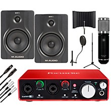 Focusrite 2i2 2nd Gen Interface with Sterling ST59 and M-Audio BX5 Pair
