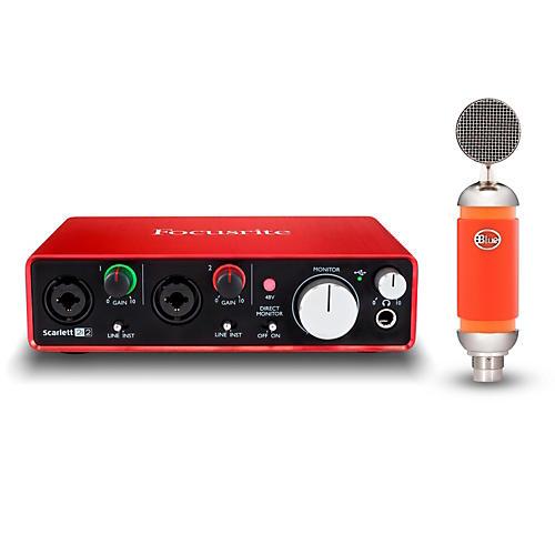 focusrite 2i2 recording bundle with blue spark mic musician 39 s friend. Black Bedroom Furniture Sets. Home Design Ideas