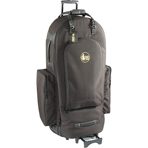Gard 3/4 Tuba Wheelie Bag 61-WBFSK Black Synthetic w/ Leather Trim