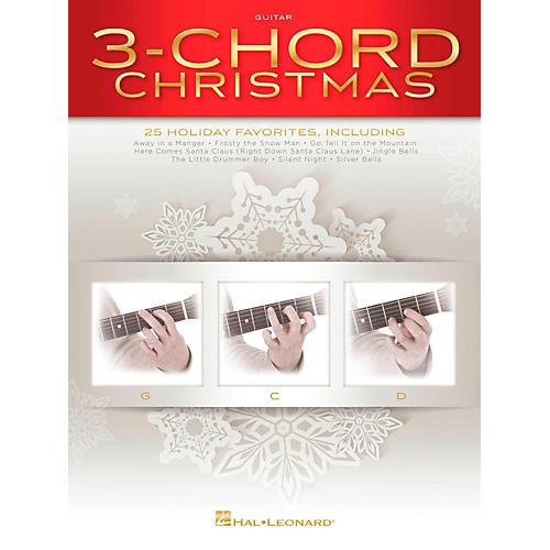 Hal Leonard 3-Chord Christmas (Three Chord) G-C-D Guitar Songbook
