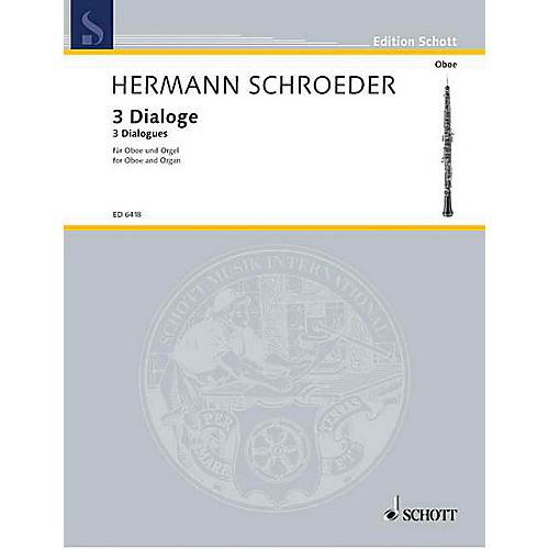 Schott 3 Dialogs Schott Series by Hermann Schroeder-thumbnail