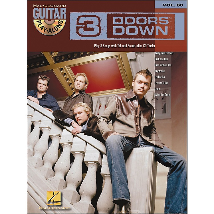 Hal Leonard 3 Doors Down Guitar Play-Along Volume 60 Book/CD