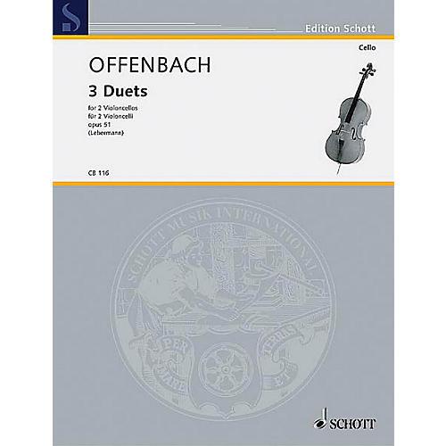 Schott 3 Duets Op. 51 (2 Cellos) Schott Series