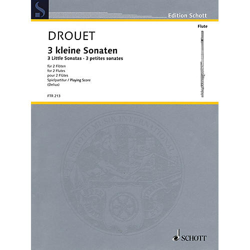 Hal Leonard 3 Little Sonatas (Performance Score) Schott Series Softcover Composed by Louis Drouet-thumbnail