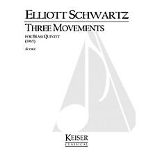 Lauren Keiser Music Publishing 3 Movements for Brass Quintet LKM Music Series by Elliott Schwartz