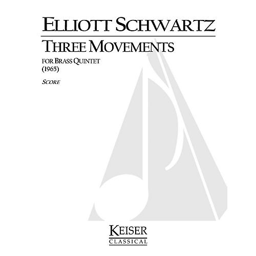 Lauren Keiser Music Publishing 3 Movements for Brass Quintet LKM Music Series by Elliott Schwartz-thumbnail