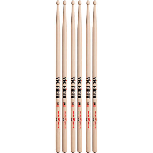 Vic Firth 3-Pair American Classic Hickory Drumsticks