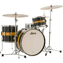 Ludwig 3-Piece Club Date Pro Beat Outfit with 24 in. Bass Drum Black/Gold Duco