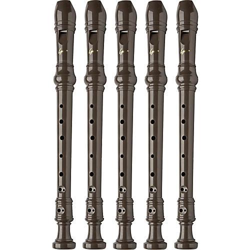 Lyons 3-Piece Recorder Baroque Fingering Brown 5-Pack-thumbnail