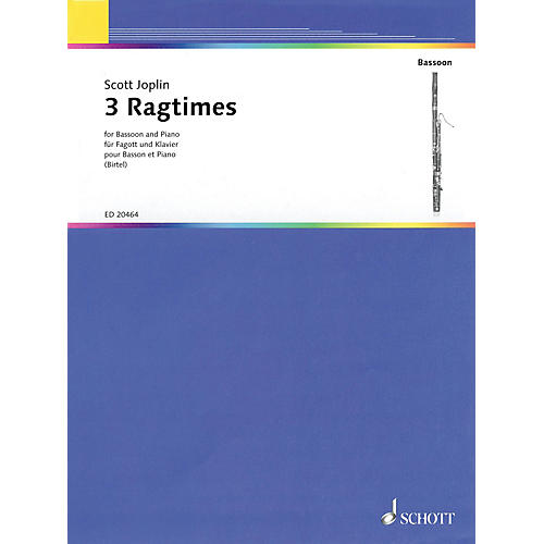 Schott 3 Ragtimes (for Bassoon and Piano) Woodwind Series Softcover-thumbnail
