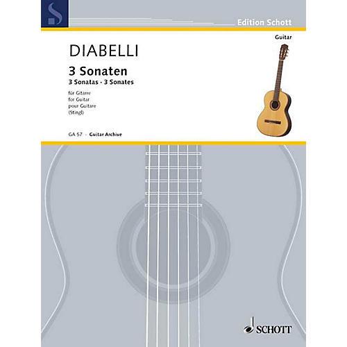 Schott 3 Sonatas (Guitar Solo) Schott Series-thumbnail