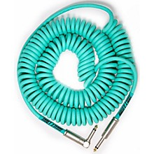 Bullet Cable 30' Coil Cable - Straight - Angle Level 1  Sea Foam Green