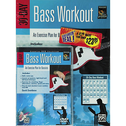 Alfred 30-Day Bass Workout (Book/DVD)