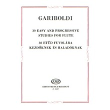 Editio Musica Budapest 30 Easy and Progressive Studies for Flute EMB Series by Giuseppe Gariboldi