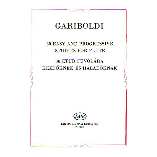 Editio Musica Budapest 30 Easy and Progressive Studies for Flute EMB Series by Giuseppe Gariboldi-thumbnail