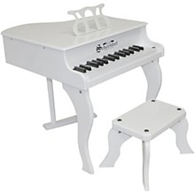 Schoenhut 30-Key Fancy Baby Grand Toy Piano White