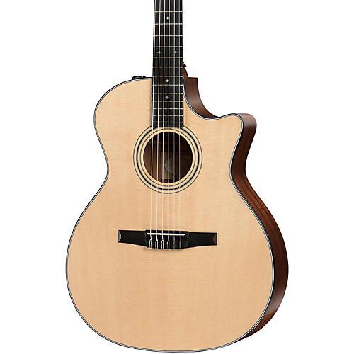 Taylor 300 Series 314ce-N Grand Auditorium Nylon String Acoustic-Electric Guitar-thumbnail