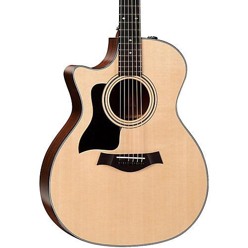 Taylor 300 Series 324ce-LH Grand Auditorium Left-Handed Acoustic-Electric Guitar-thumbnail