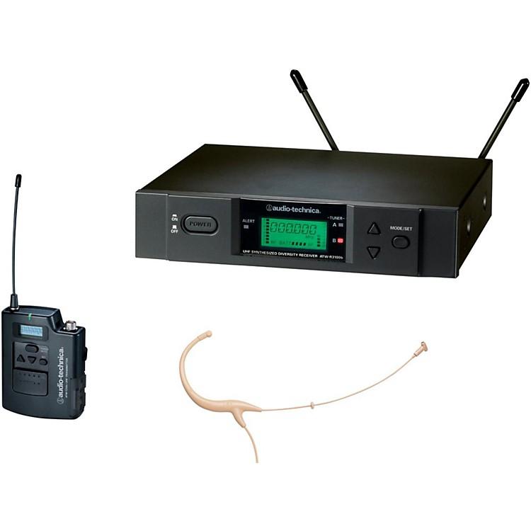 Audio-Technica3000 Series Headworn Wireless Microphone System / C BandBeigeC-Band
