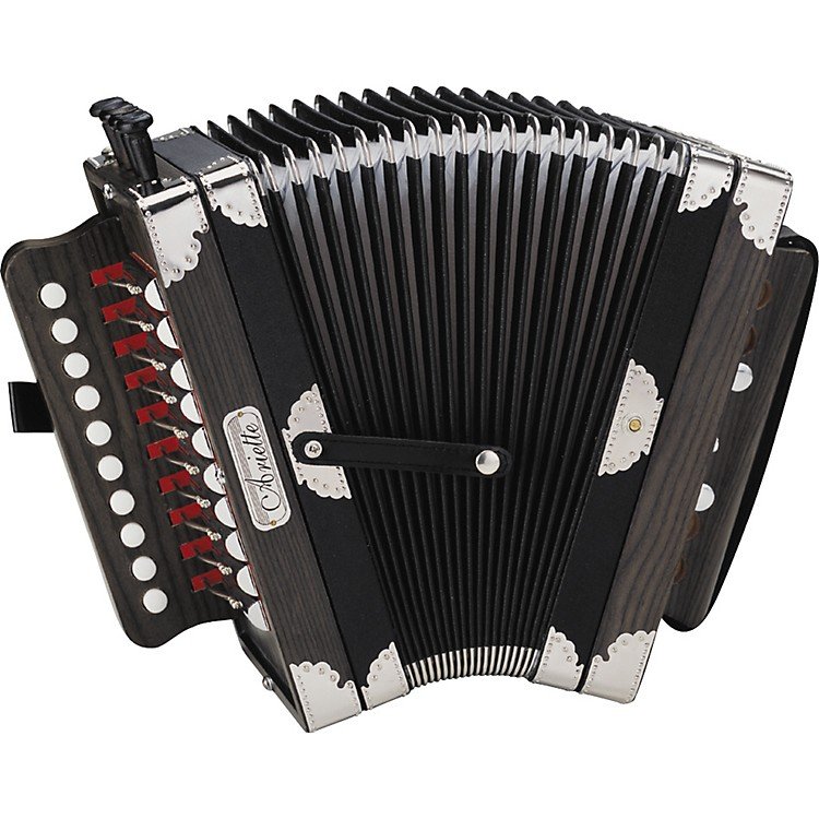 Hohner 3002B Ariette Folk/Cajun Accordion Black