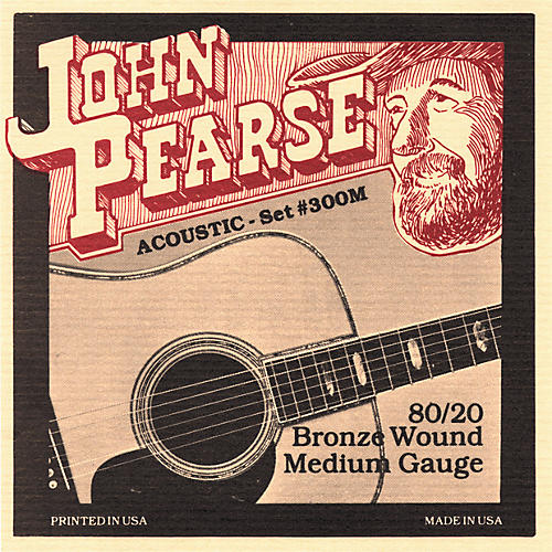 John Pearse 300M 80/20 Bronze Acoustic Guitar Strings-thumbnail