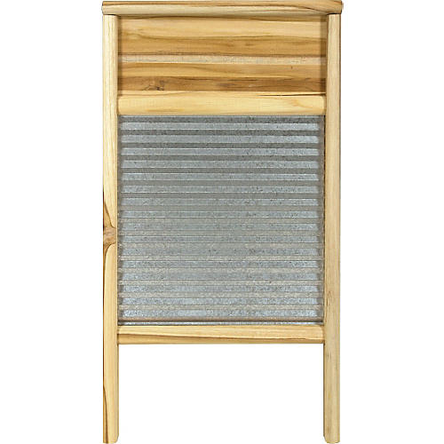 Columbus Washboard 3020 Galvanized Washboard Teak 12-7/16x23-3/4 Inches