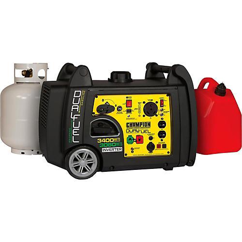 Champion Power Equipment 3100/3400 Watt Portable Dual Fuel-Powered Electric Start Inverter Generator