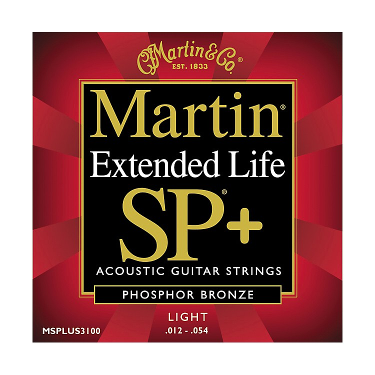 Martin 3100 Coated SP Plus Extended Life Light Acoustic Guitar Strings