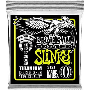 ernie ball 3121 coated titanium slinky electric guitar strings musician 39 s friend. Black Bedroom Furniture Sets. Home Design Ideas