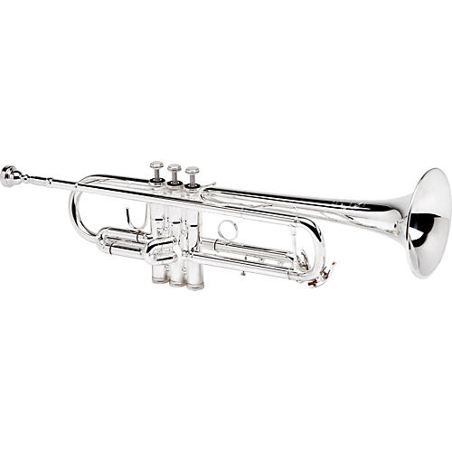B&S 3137 Challenger II Series Bb Trumpet with Reverse Leadpipe 3137/2Lr-S Silver With Reverse Leadpipe