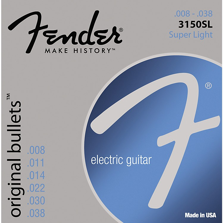 Fender 3150SL Original 150 Pure Nickel Bullet-End Electric Guitar Strings - Super Light