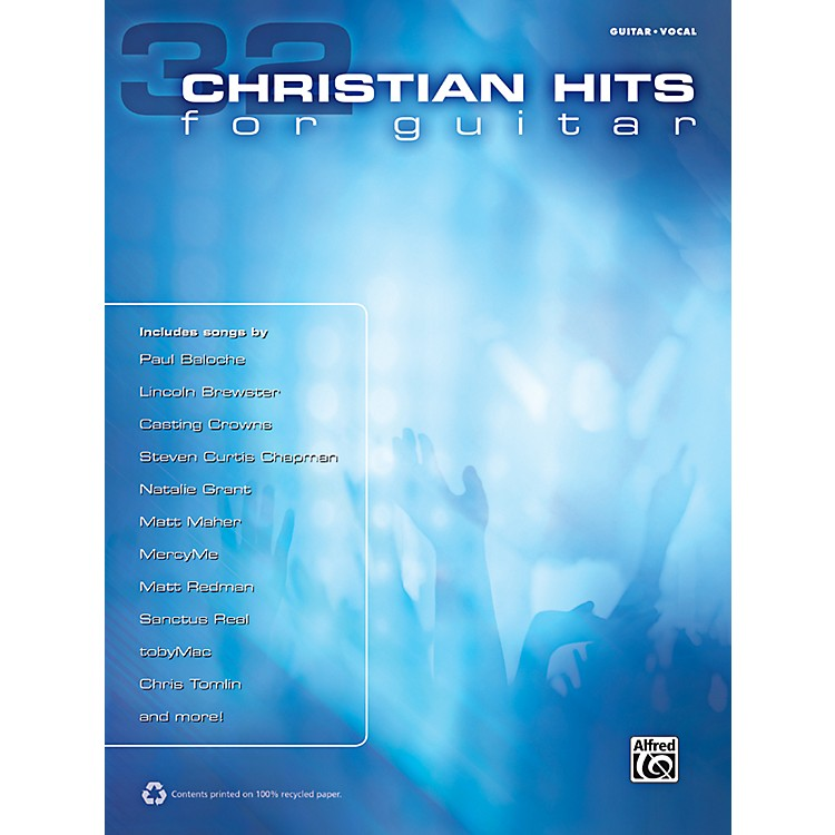 Alfred 32 Christian Hits for Guitar Book