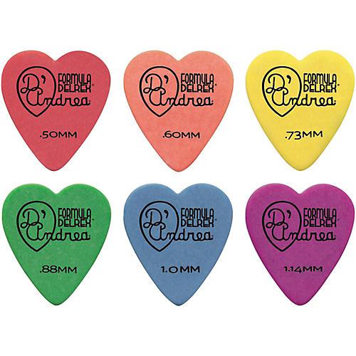 D'Andrea 323 Heart Delrex Delrin Picks - One Dozen-thumbnail