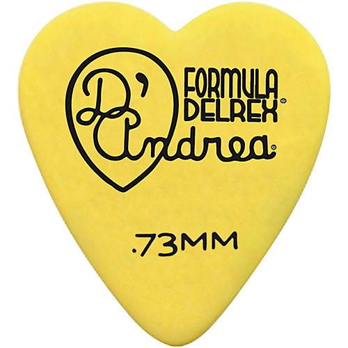 D'Andrea 323 Heart Delrex Delrin Picks - One Dozen Yellow .73 mm