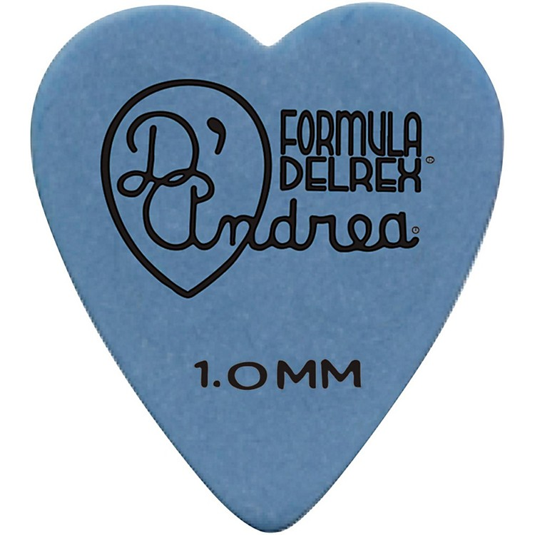 D'Andrea 323 Heart Delrex Delrin Picks One Dozen Blue 1.0MM