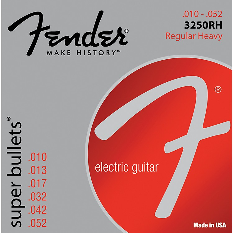 Fender 3250RH Nickel-Plated Steel Bullet-End Electric Strings - Heavy