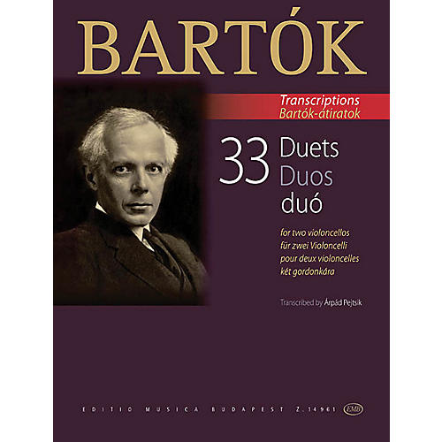 Editio Musica Budapest 33 Duets for Two Violoncellos (From the 44 Violin Duets) EMB Series Softcover Composed by Béla Bartók-thumbnail