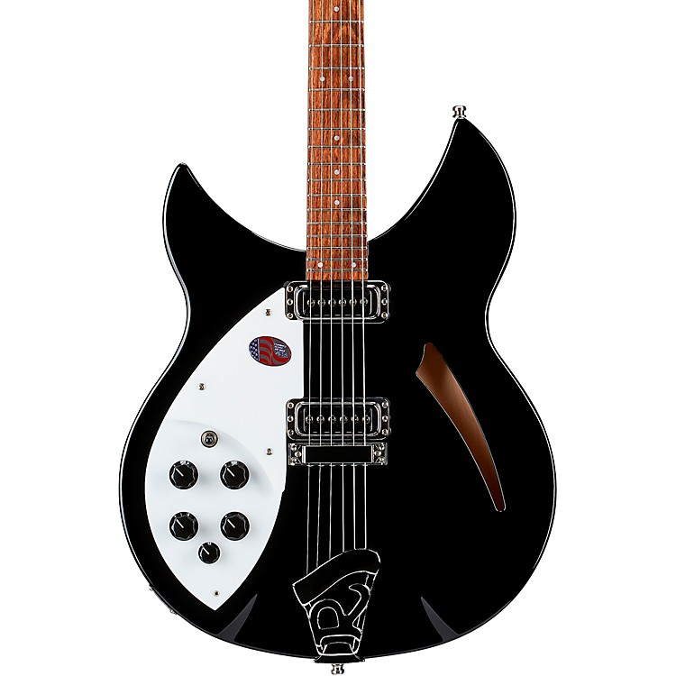 Rickenbacker 330 Left-Handed Electric Guitar Jetglo