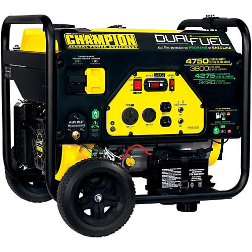 Champion Power Equipment 3420/4275 Watt LPG 3800/4750Watt Gas Dual Fuel Electric Start Generator-thumbnail