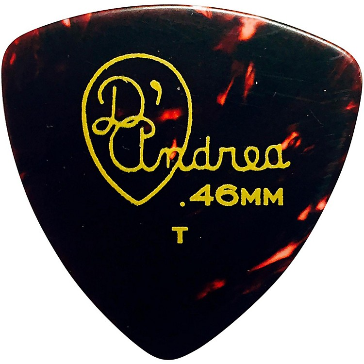 D'Andrea 346 Rounded Triangle Celluloid Guitar Picks One Dozen Shell Thin